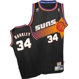 Men's Phoenix Suns Charles Barkley Black Swingman Throwback Jersey