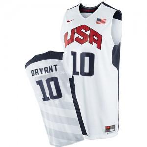 Men's Team USA Kobe Bryant White Authentic 2012 Olympics Basketball Jersey